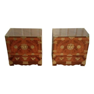 Vintage Asian Chest/Side Table - Set of 2