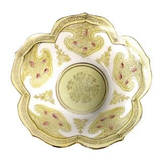 Vintage Chinese Lotus Shape Rice Bowl