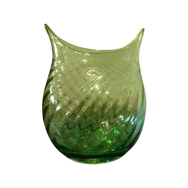 Blenko Glass Spring Green Vase Chairish