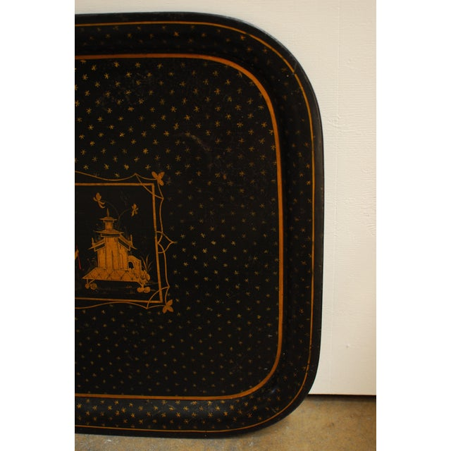 Image of Chinoiserie Tole Serving Tray