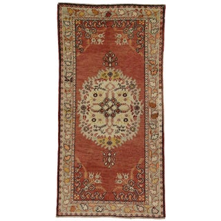 Vintage Turkish Oushak Rug - 3'4 x 6'6