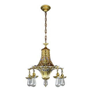 Decorative Polychrome Light Fixture (5-Light)
