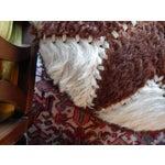 Image of Hand-Sewn Animal Hide Ottoman Pouf