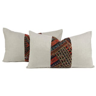 Takhia Embroidered Lumbar Pillows - Pair