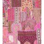 Image of Pink Appliquéd Multi-Purpose Vintage Panel