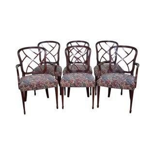 Kindel Set of 6 Mahogany Regency Style Dining Chairs