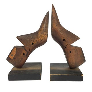 Wooden Shoe Form Bookends