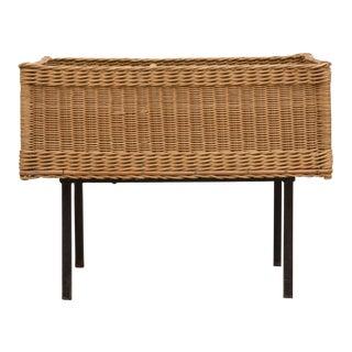 Square Basket Side Table