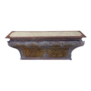18th C. Italian Painted Altar Table