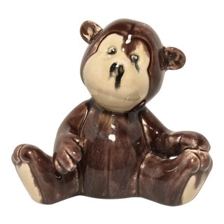 Vintage Ceramic Monkey-Bear Bank