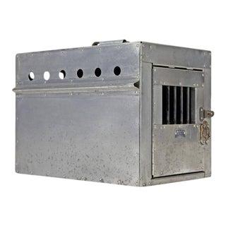 Fantastic 1950's Aluminum Airline Dog Carrier Owned by Harry C. Zeisig Jr.