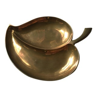 Solid Brass Leaf Catchall Dish