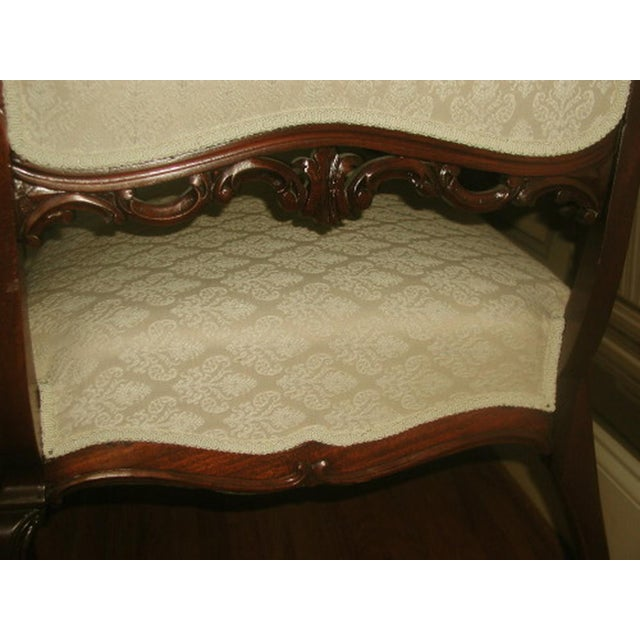 French 19th C. Walnut Settee Loveseat - Image 6 of 8