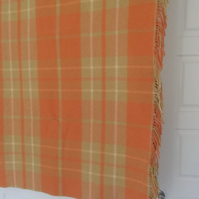 Orange Wool Blanket from London - Image 3 of 8