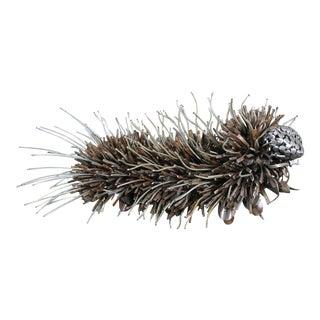 Jason Startup Reclaimed Metal Caterpillar Sculpture/Garden Art