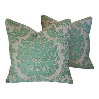 Italian Mariano Fortuny Vivaldi Feather & Down Pillows - a Pair