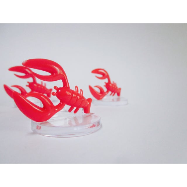 Lobster Lucite Place Card Holders - Set of 4 - Image 3 of 7