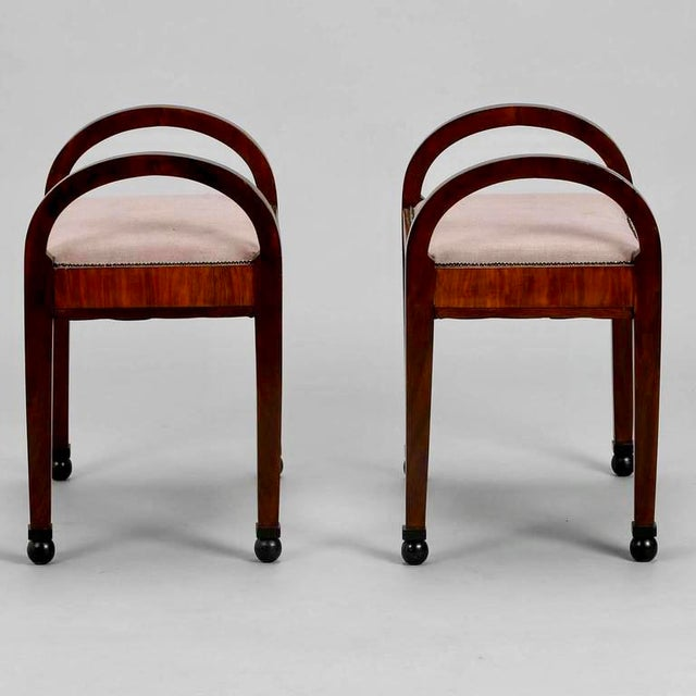 French Art Deco Upholstered Benches - A Pair - Image 9 of 10