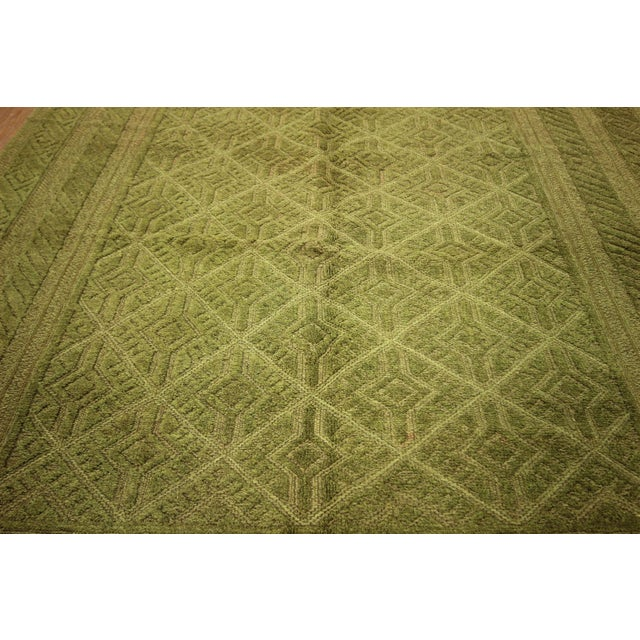 "Overdyed Green Handmade Rug - 4'10"" x 6' - Image 5 of 8"