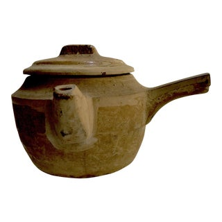 Hand Thrown Chinese Medicine Pottery Kettle