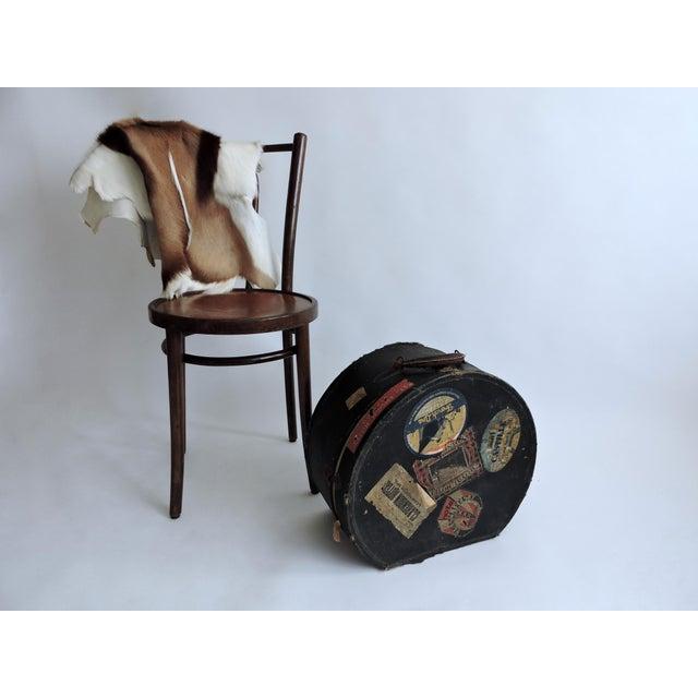 European Depression Era Travel Decals Hat Box - Image 4 of 6