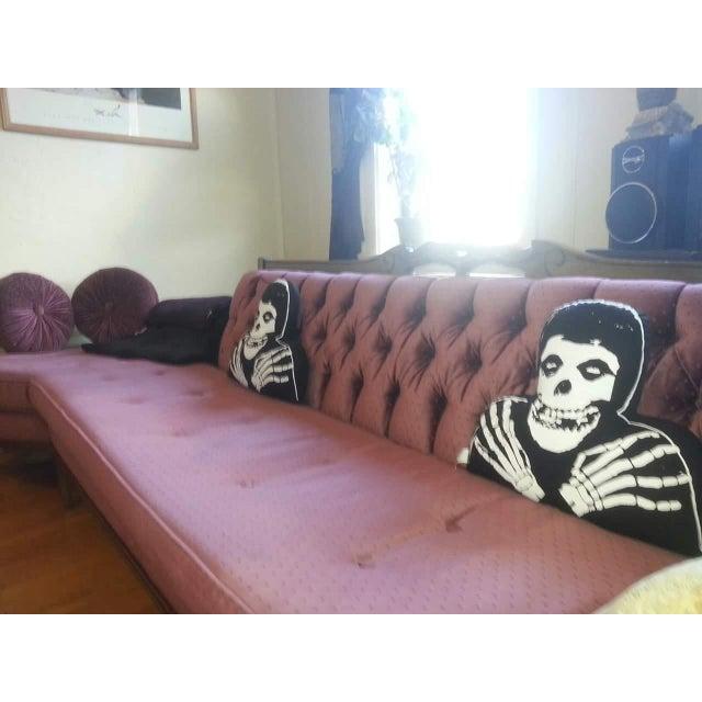 Hollywood Regency Style Rose Sofa - Image 3 of 4
