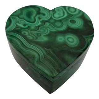 Malachite Heart Box