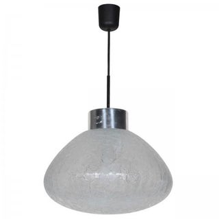 1960s German Textured Glass Pendant Light