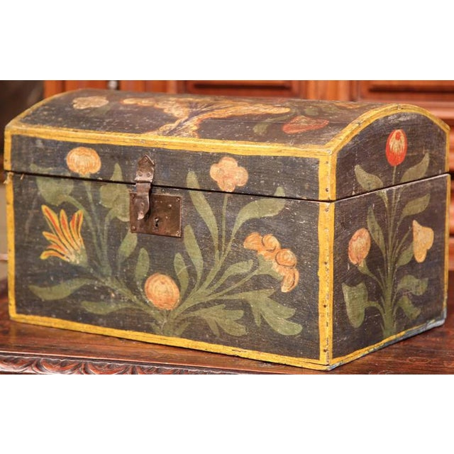 18th Century French Hand Painted Floral Wedding Box - Image 5 of 9