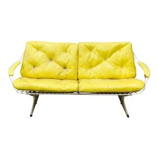 Vintage Mid-Century Modern Metal Sofa