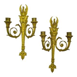 Gilt Bronze Sconces - A Pair