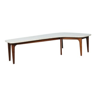 Mid-Century Marble Top Coffee Table
