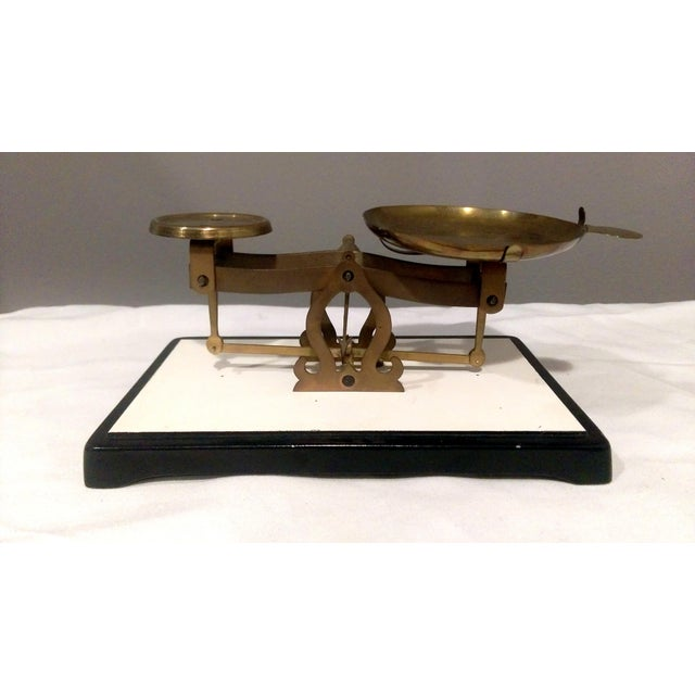 Antique Brass Pharmacy Scale - Image 2 of 9