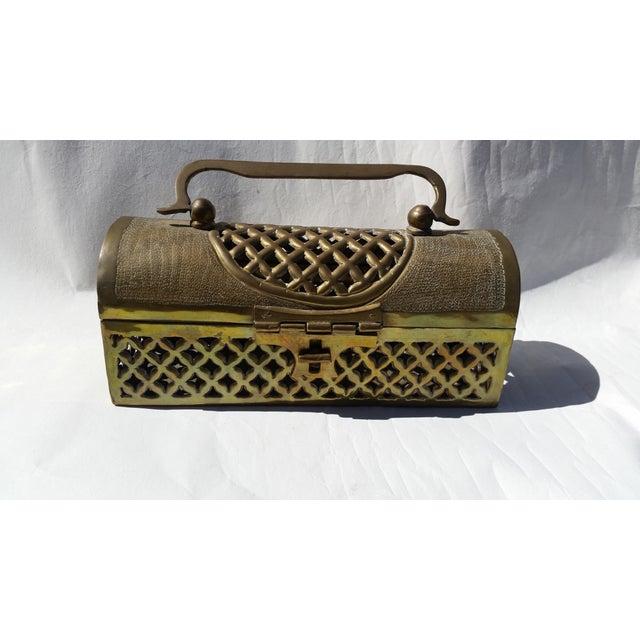 Vintage Long Brass Cricket Box - Image 2 of 5