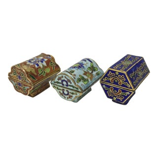 Miniature Chinoiserie Curio Boxes - Set of 3