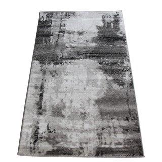 Abstract Gray Rug - 3′ × 5′