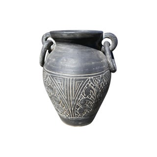 Vintage Gray Terracotta Vase