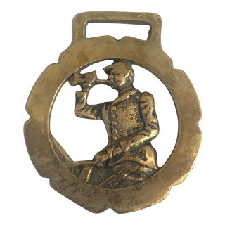 Vintage Brass Equestrian Harness Ornament
