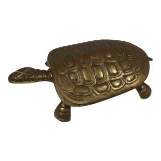 Vintage Brass Turtle Box