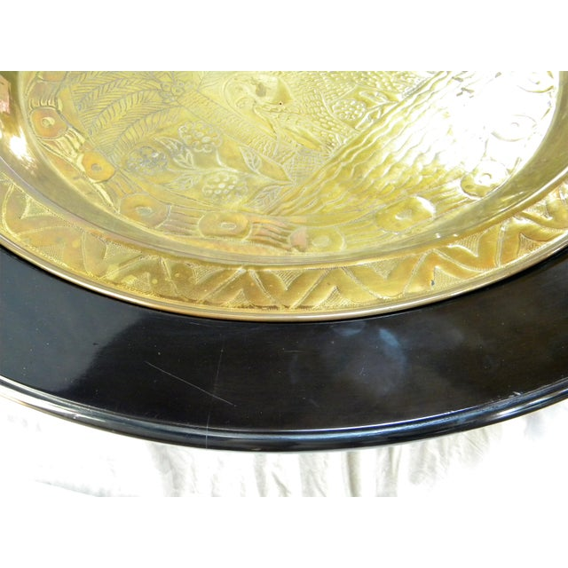 Black Lacquer Pedestal Coffee Table - Image 6 of 6