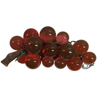 Coral Lucite Grapes