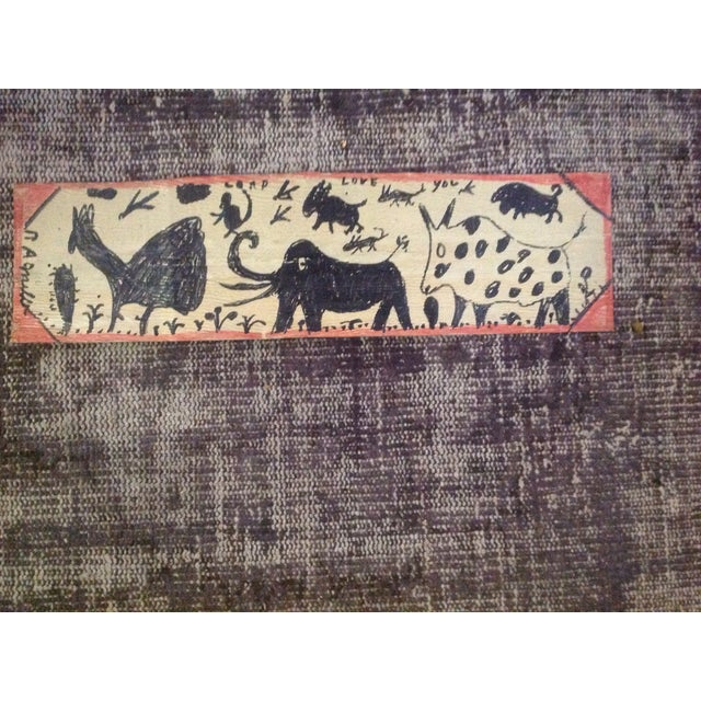 Vintage Folk Art Primitive Native Painting - Image 2 of 9