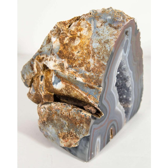Organic Agate Stone Sculpture with Crystalline Center - Image 2 of 10