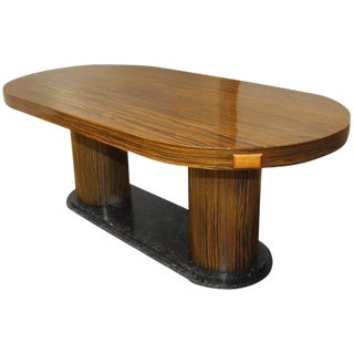 Modern Italian Zebrawood Conference Table