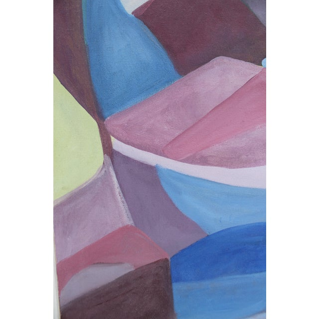 Vintage Cubist Painting of a Woman - Image 6 of 10