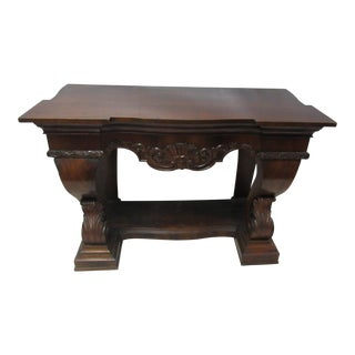 Antique Victorian Console or Entry Table
