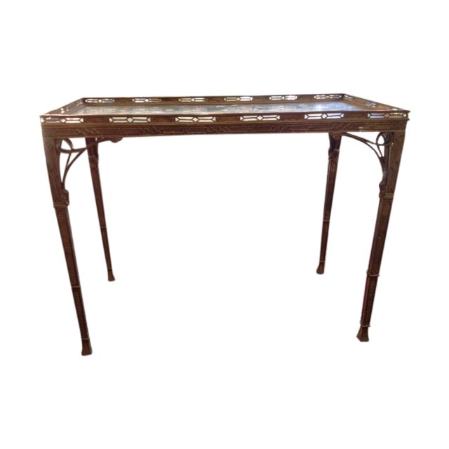 Antique 19th C. Chinoiserie Bronze Console Table - Image 1 of 5