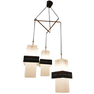 Stilnovo Mobile Shaped Mid-Century Chandelier, Italy circa 1960