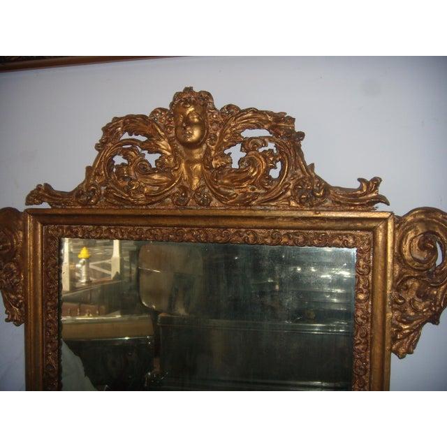 Antique Italian Gilt Cherub Mirror - Image 5 of 10