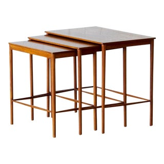 1970 Mid-century Scandinavian Teak Nesting Tables, Grete Jalk for P.Jeppesens Møbelsnedkeri - Set of 3